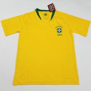 Brasil home soccer jersey